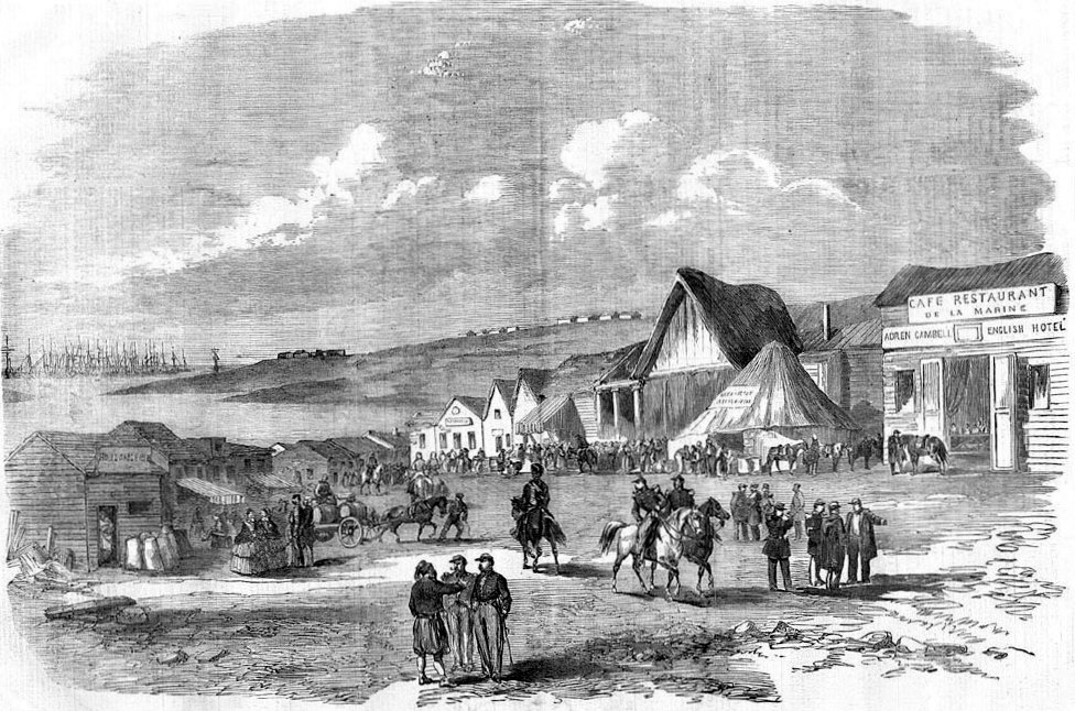 Camp at Kamiesch [Illustrated London News 15 Sep 1855]