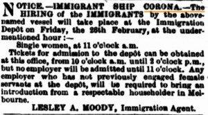 Immigrants 1869