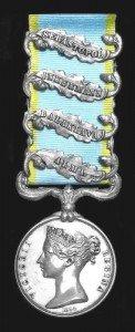 Crimean War Medal 4 Clasps