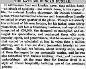 Dunbar-Death