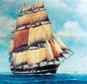 Edwin Fox at sea