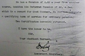 Letter Royal Hospital Chelsea 9 Nov 1899