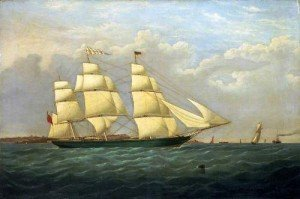 Matilde Wattenbach painted at the time of her launch 1853