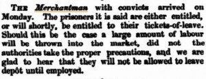 Merchantman-Arrival Inquirer 18 Feb 1863