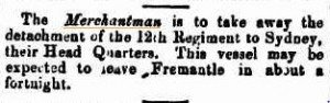 Merchantman-Perth Gazette 27 Feb 1863
