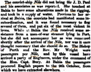 Nile Arrival Inquirer 6 Jan 1858
