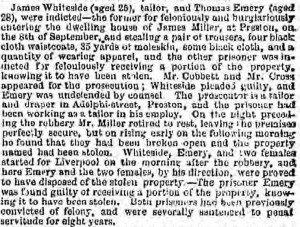 Whiteside James Trial [Liverpool Weekly Mercury 13 Dec 1856]