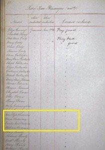 Anderson Family on Merchantman 1864