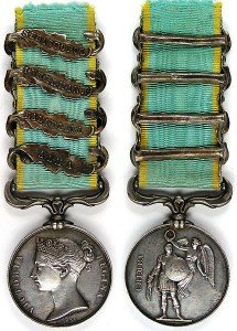 British Crimea Medal ABIS Clasps