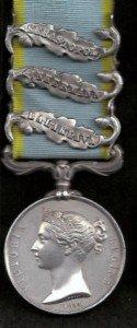 Crimea Medal     B, I, S Clasps