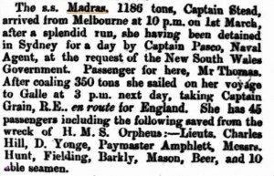 Grain Captain on Madras [Inquirer 18 Mar 1863]