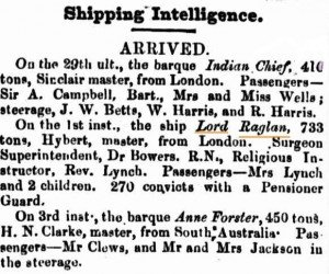 Lord Raglan [Perth Gazette 4 Jun 1858]