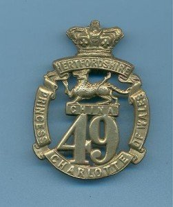 49th Regiment Badge