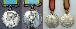 British & Turkish Crimea War Medals