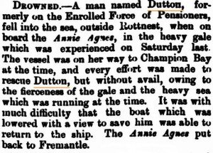 Dutton Drowning [WATimes 28 May 1878]