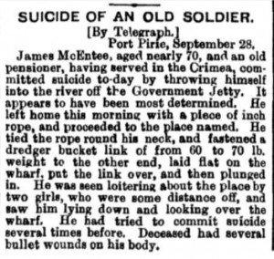 McEntee Suicide