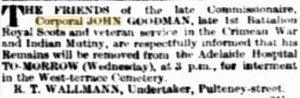 Goodman Funeral