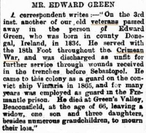 Green Edward (Western Mail 10 Mar 1900)