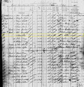 Allen Norwood July 1862 Pay List
