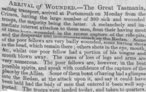 Great Tasmania [Lincolnshire Chronicle 31 Aug 1855]