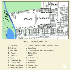 Hulme Cavalry Barracks c.1844