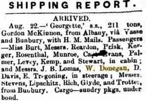 Donegan William Georgette [Herald 29 Aug 1874]