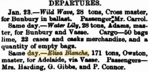 Gibbs G (sic) [Perth Gazette 29 Jan 1869]
