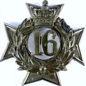 16th Bedfordshire Regiment Cap Badge pre-1881