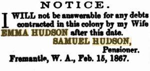 Hudson Samuel & Emma Debts
