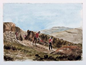 The Quarries Wounded [A W Adair Crimean Sketchbook]