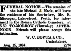 Mack Michael Funeral