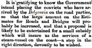 Belgravia Convict Roadwork Inquirer 11 Jul 1866