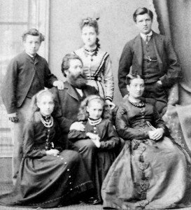Captain William Storey Croudace family c.1870