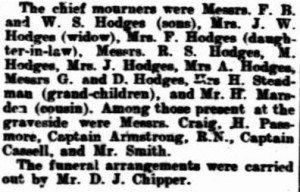 Funeral 20 Feb 1909 West Australian