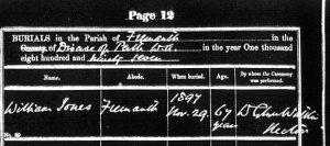 Jones William 1897 Burial