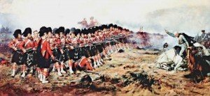 The thin red  line at Balaclava