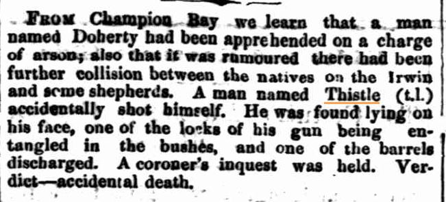 Thistle William Death [Inquirer 06 Apr 1864]