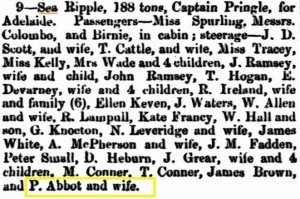 Abbot P Sea Ripple [Inquirer 12 Oct 1864]