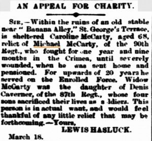 Caroline McCarty [Inquirer 18 Mar 1891]