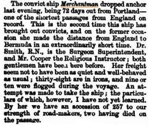 Merchantman [West Australian Times 15 Sep 1864]