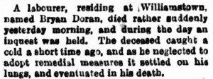 Doran Bryan [The Argus 24 Aug 1877]