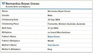Doran birth at Sea