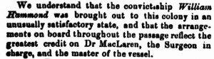 William Hammond [Perth Gazette 11 Apr 1856]