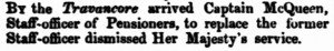 Travancore McQueen [Inquirer 6 May 1857]