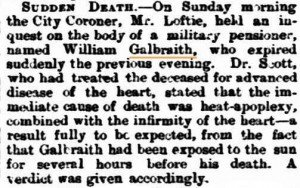Galbraith William Death Notice [Inquirer 7 Jan 1880]