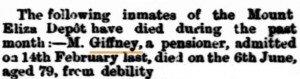 Giffney Death