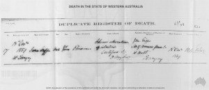 Griffin James Death Certificate 1889