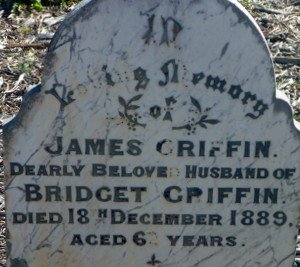 Griffin James Gravestone Toodyay Cemetery