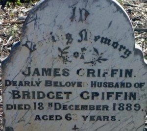 Griffin James Gravestone Toodyay Cemetery