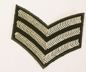 Three Good Conduct Badges